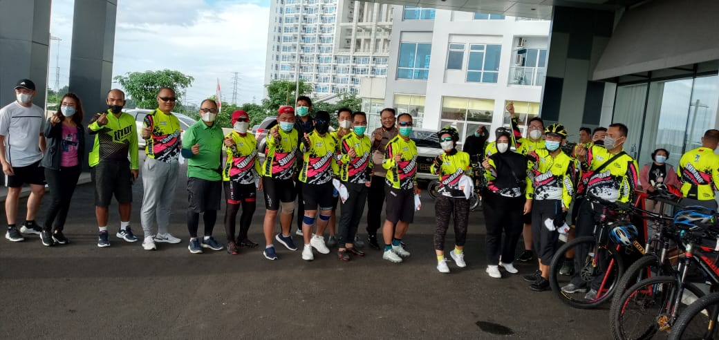 Gowes Bareng Kapuskeu Polri bersama PJU Puskeu dan Para Kabidkeu