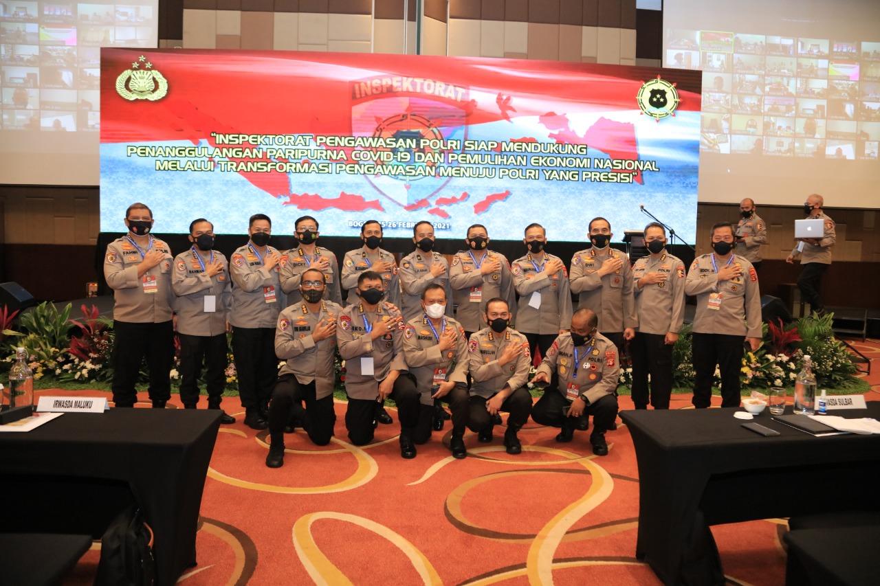 Foto bersama Kapuskeu Polri dengan peserta Rakorwas Itwasum Polri