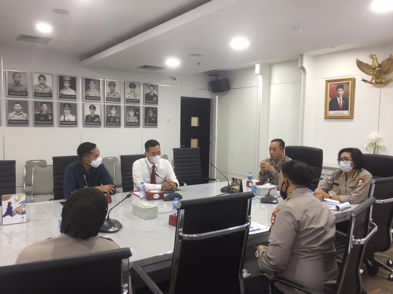 Rapat Koordinasi Puskeu Polri dengan Bank BRI, perihal Pembahasan Restrukturisasi Rekening Benma Polri dari Rekening Giro ke Rekening Virtual Account