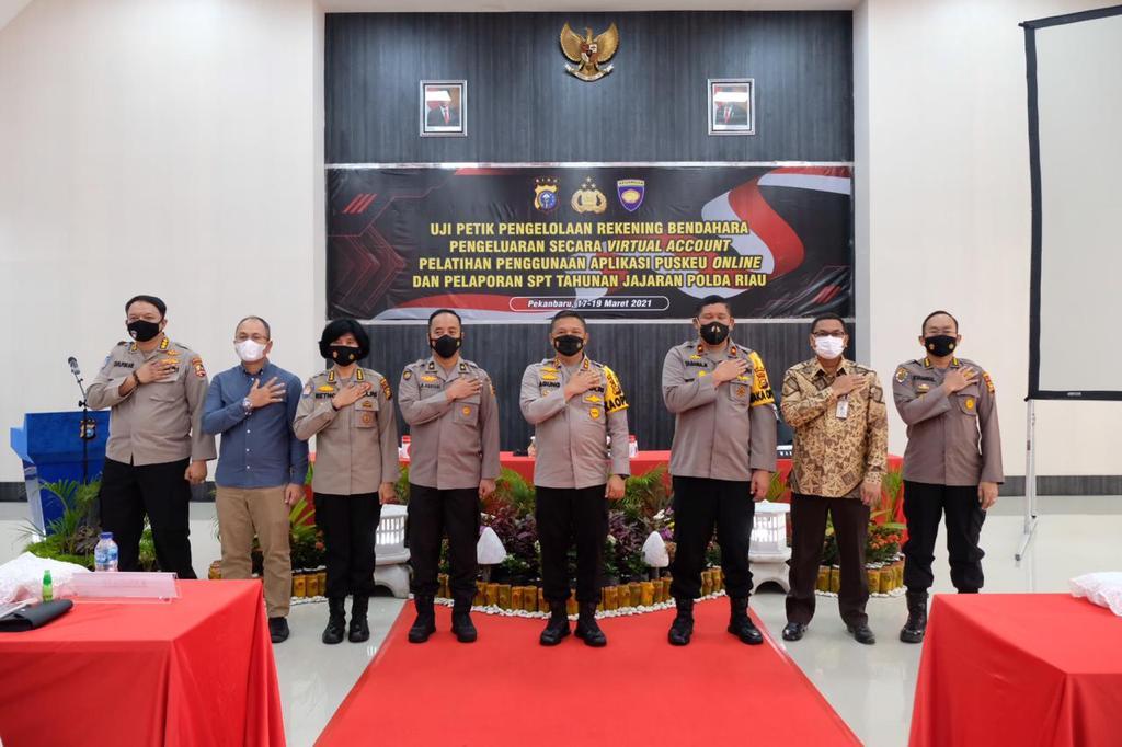 Uji petik VA dan pelatihan Puskeu Presisi di Polda Riau