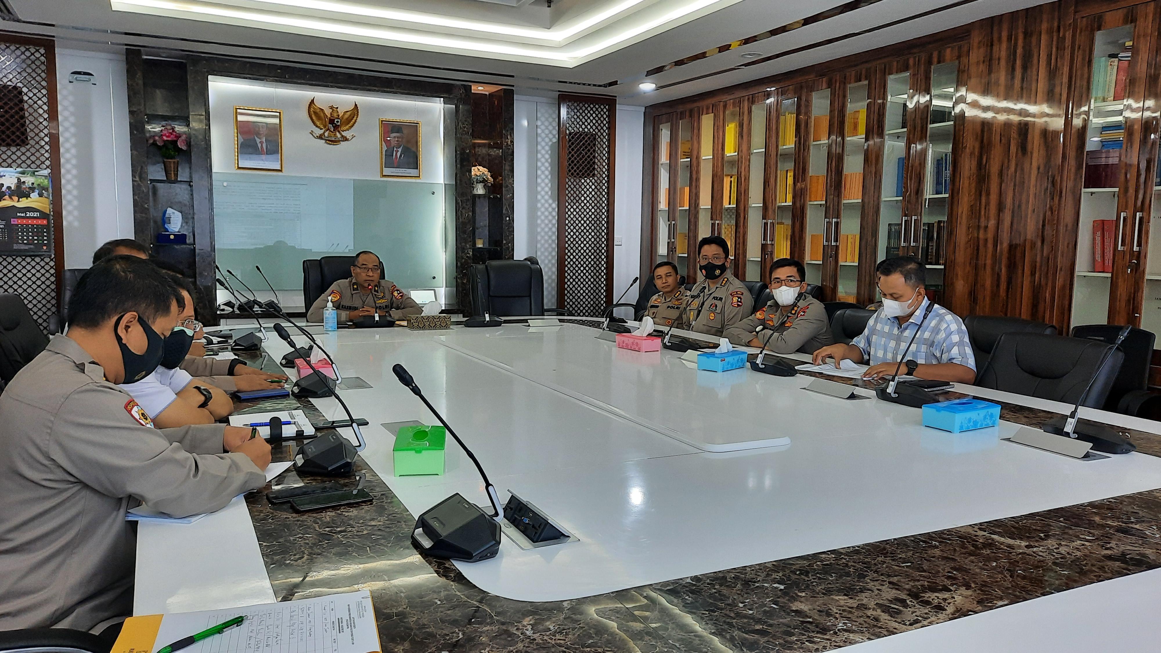 Rapat Koordinasi Permohonan Revisi Anggaran pada DIPA Puskeu Polri T.A. 2021